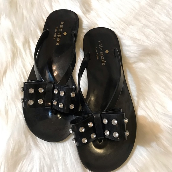 kate spade Shoes - Kate Spade Francy Bow Black Jelly Sandals